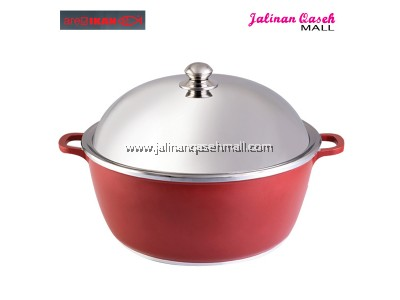 Are Ikan Periuk Rendang 40cm Berpenutup Stainless Steel RED