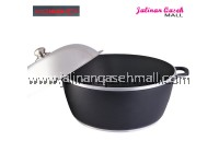Are Ikan Periuk Rendang 40cm Berpenutup Stainless Steel BLACK