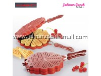 Are Ikan Waffle Ajaib 23cm RED