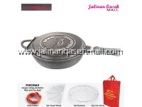 Are Ikan Wok With Pan Ajaib 32cm STONE