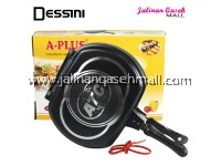 Dessini Double Grill Pan 30cm BLACK