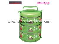 Are Ikan Strawberry Food Carrier 3 Tingkat GREEN