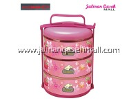 Are Ikan Strawberry Food Carrier 3 Tingkat PINK