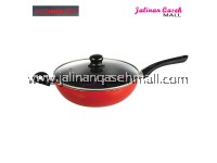 AreIkan Korean Style Wok 28cm Red