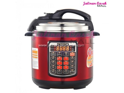 DESSINI Pressure Cooker Red 6Liter
